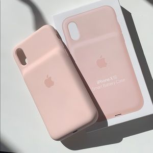 iPhone X/XS Smart Battery Charging Case Pink Sand